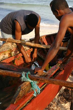 Domincan fishermen © Gail Simmons
