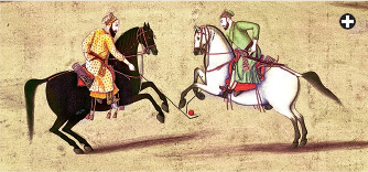A polo game in 18C India (Bridgeman Art Library)