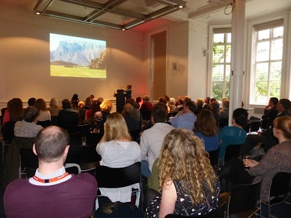 The audience at the RGS event 'Discovering Jordan'