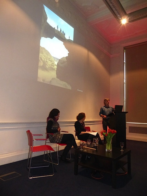 Gail at the RGS (Royal Geographical Society) event 'Discover Jordan' © n.o.m.a.d.s.