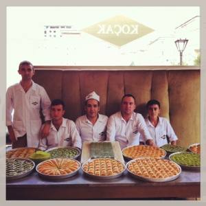 Some of Gaziantep's famed baklava makers. © Gail Simmons